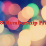 2018 Membership Prices