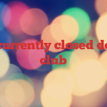Road currently closed down to club
