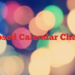 Proposed Calendar Changes