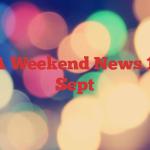 CVRDA Weekend News  15-16th Sept