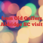 Pics from Old Gaffers and Aldridge SC visit