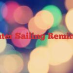 Winter Sailing Reminder
