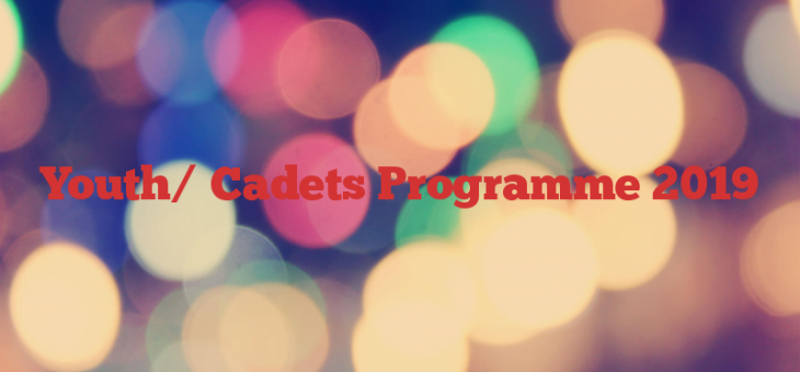 Youth/ Cadets Programme 2019